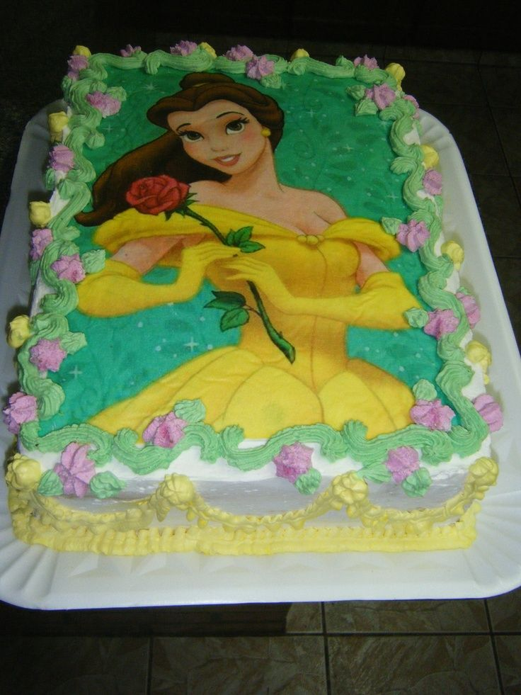 9 Belle Birthday Cakes Half Sheet Photo Beauty And The Beast Sheet
