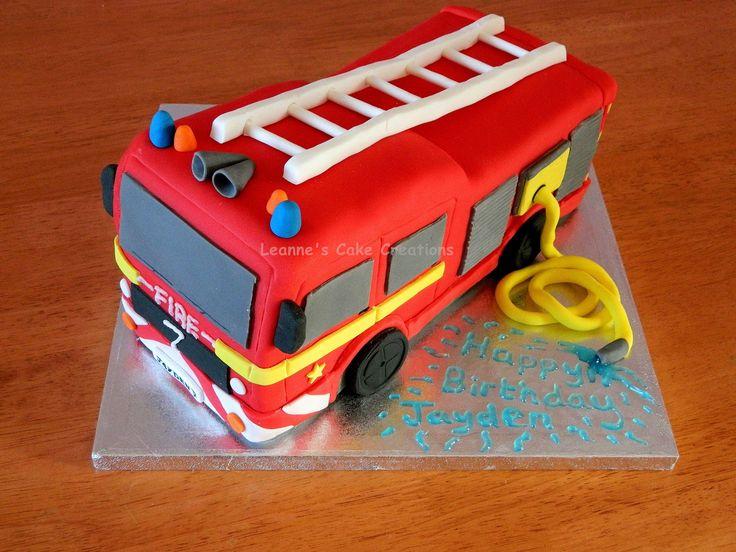 Wondrous 11 Firefighter Engine Cakes Photo Firefighter Cake Fire Engine Personalised Birthday Cards Beptaeletsinfo