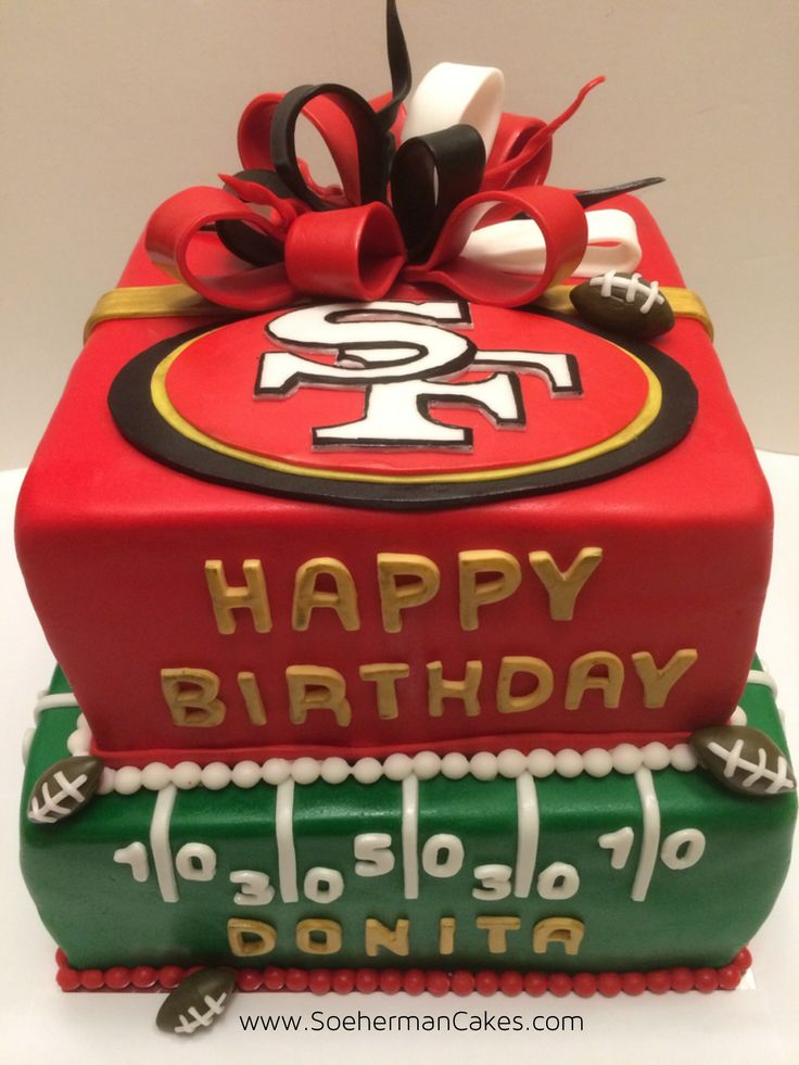 Birthday Football Cake 49Ers