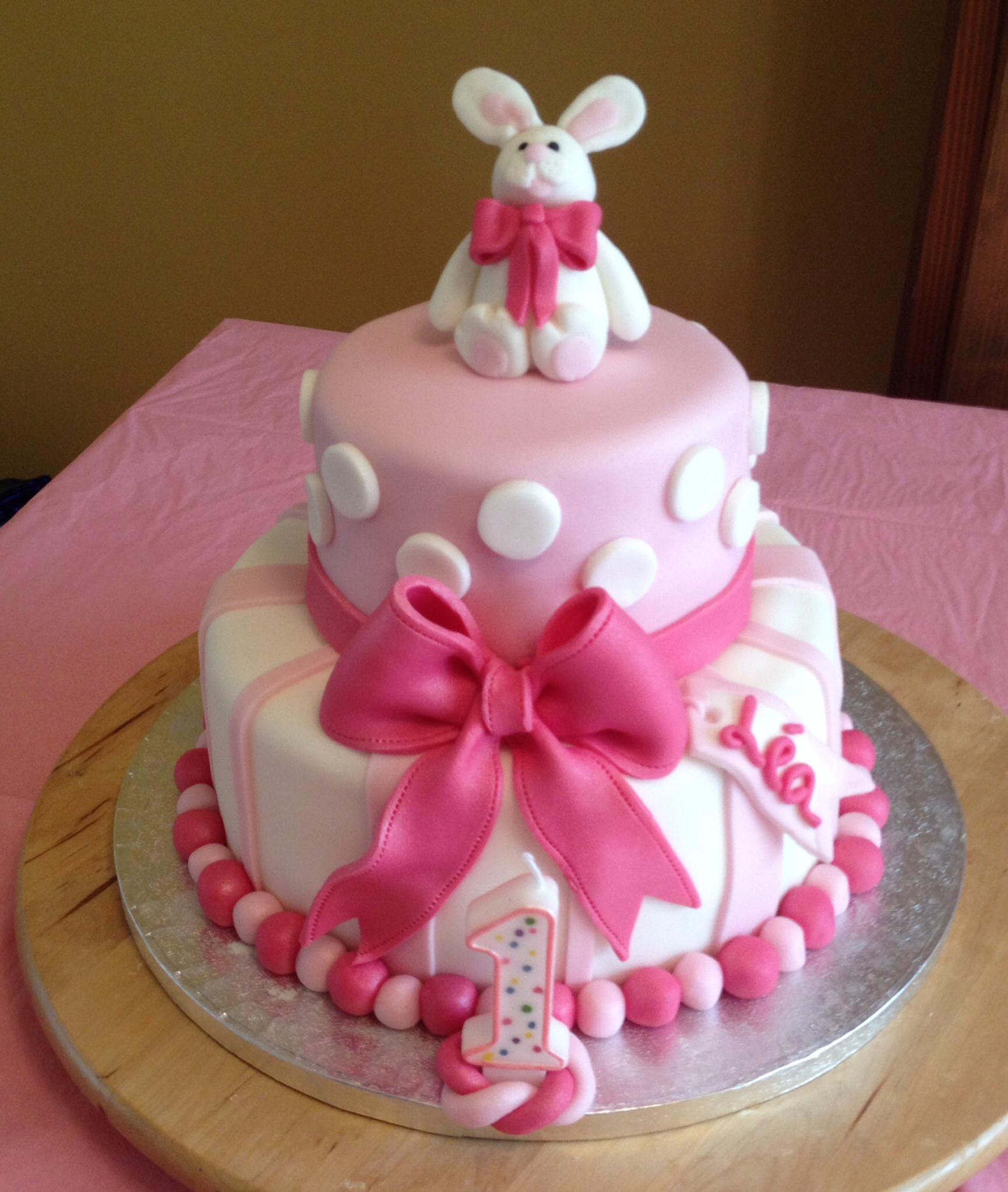 13 Bunny Girl Birthday Cakes Photo Bunny Birthday Cake Bunny With