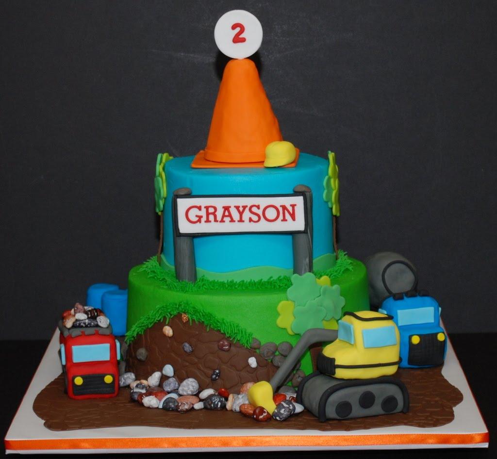 Construction Theme Birthday Cake