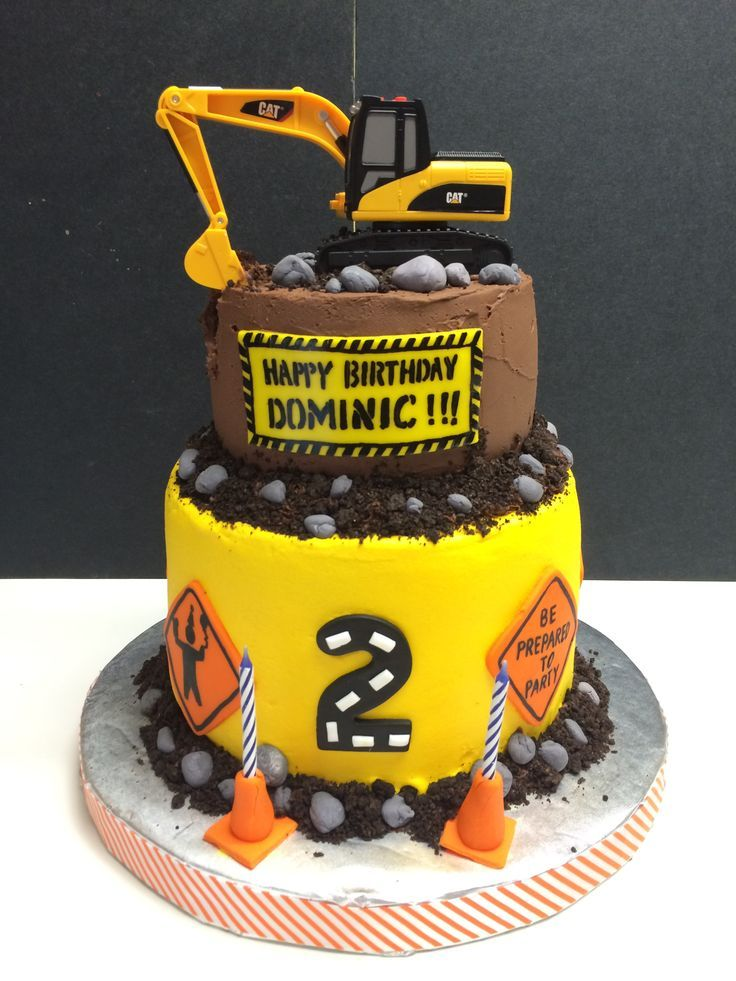 12 2nd Birthday Construction Cakes For Boys Photo