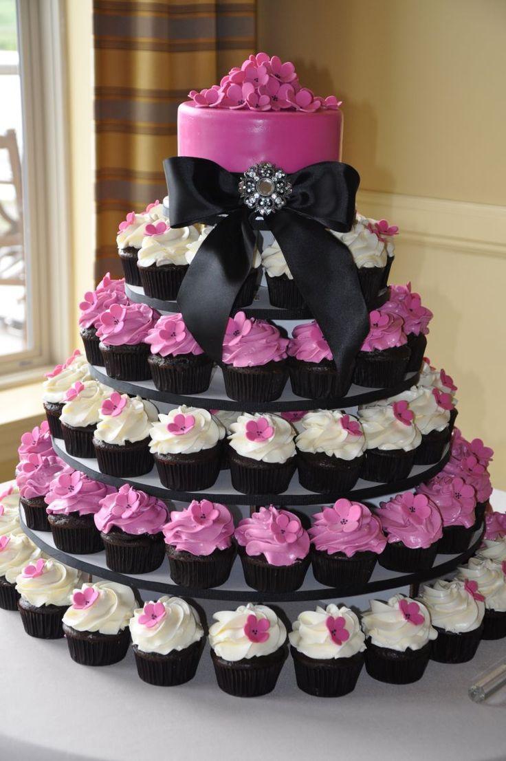 11 Cupcakes For A Wedding Cake Photo Cupcake Wedding Cakes Ideas