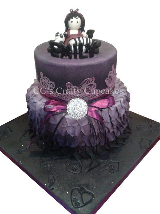 9 Separate Cakes Gothic Photo Gothic Wedding Cake Goth Birthday