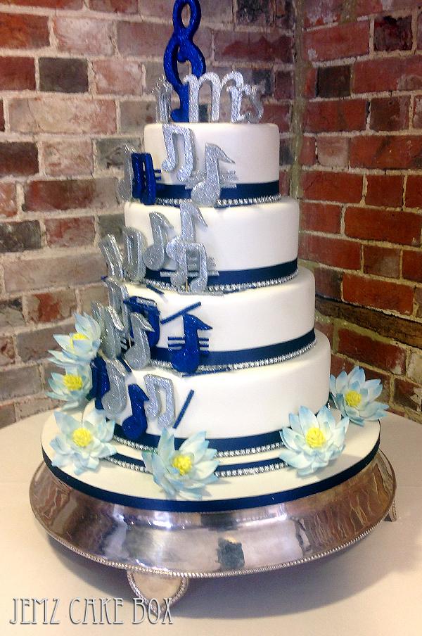 10 Music Wedding Cakes 2014 Photo Music Themed Wedding Cake Music