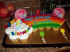My Little Pony Pull Apart Cupcake Cake