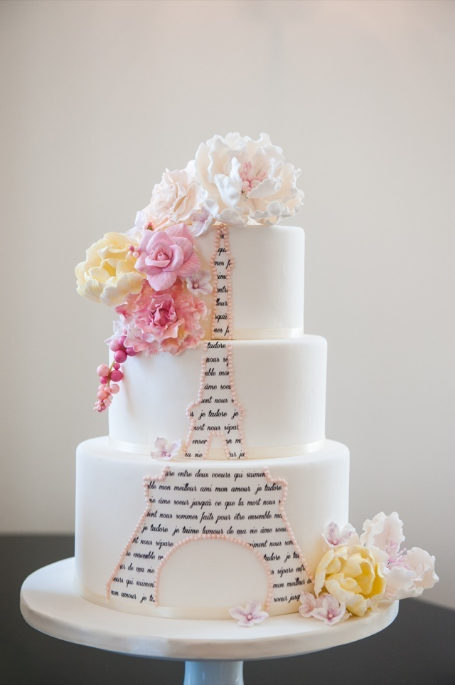 11 Paris Themed Wedding Cakes Photo Paris Eiffel Tower Themed Cake
