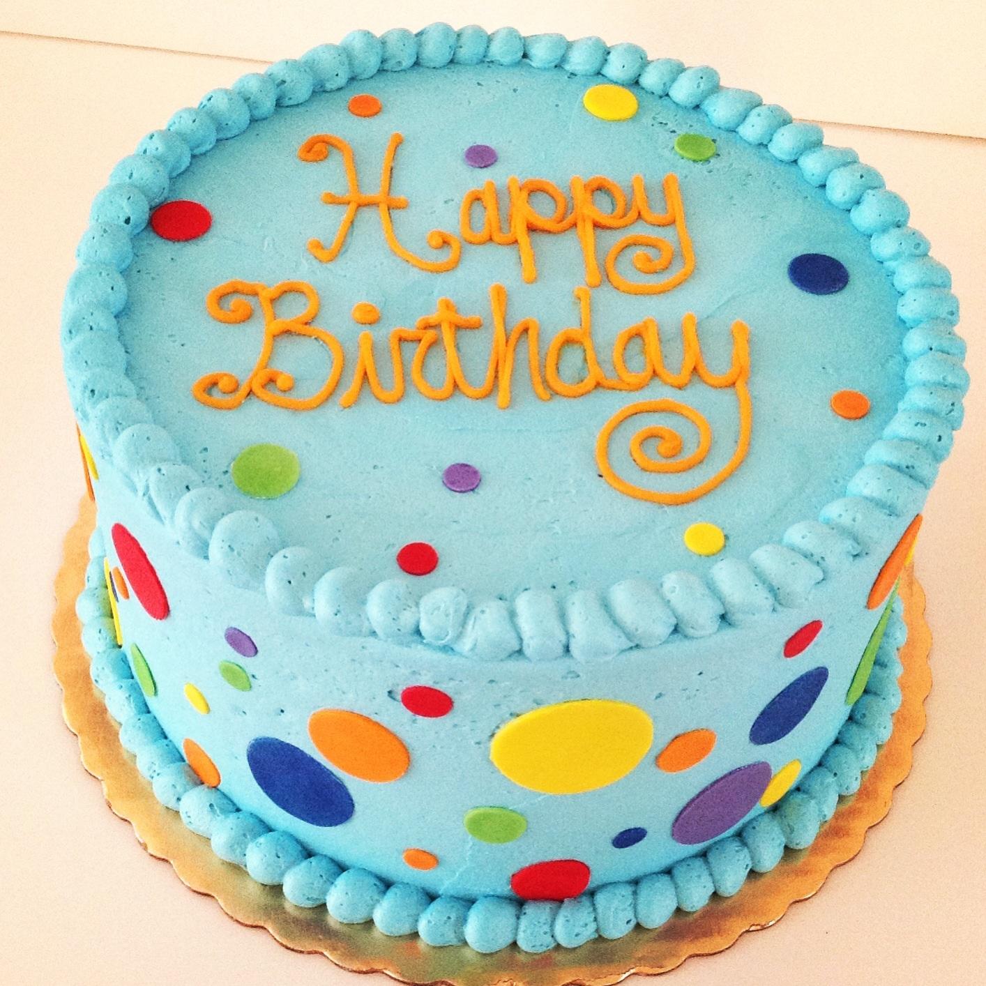 13 Polka Dot Birthday Cakes Photo - Polka Dot Birthday Cake, Polka ...