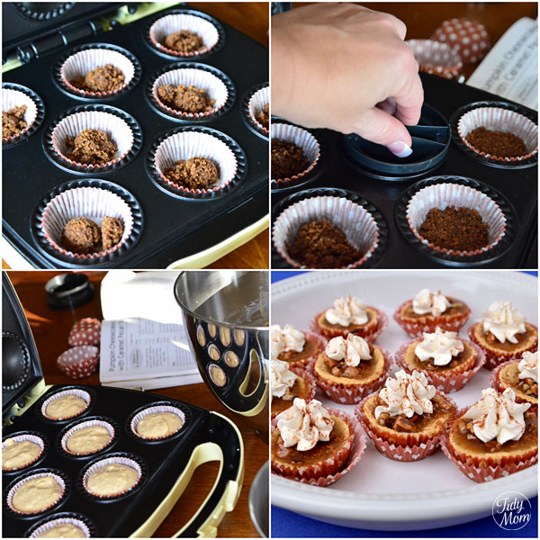 Mini chicken pot pies using the babycakes cupcake maker love.