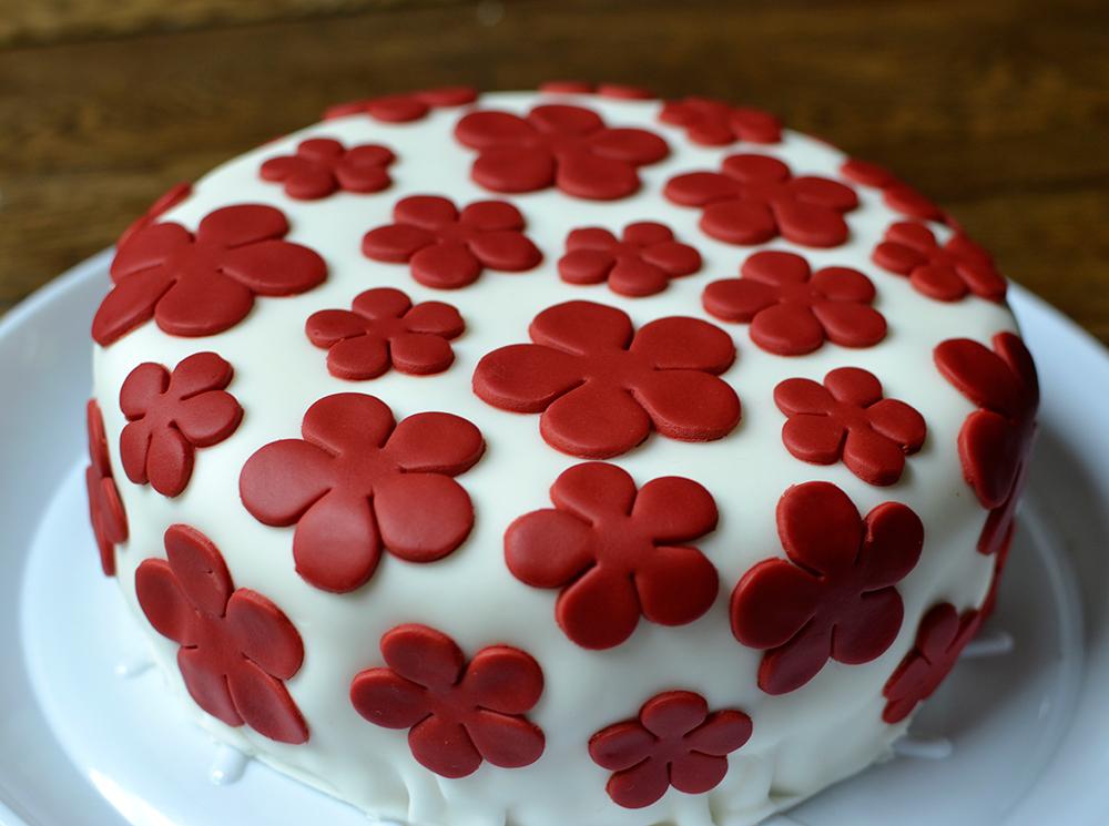 8 Decorated Red Velvet Birthday Cakes Photo Red Velvet Birthday