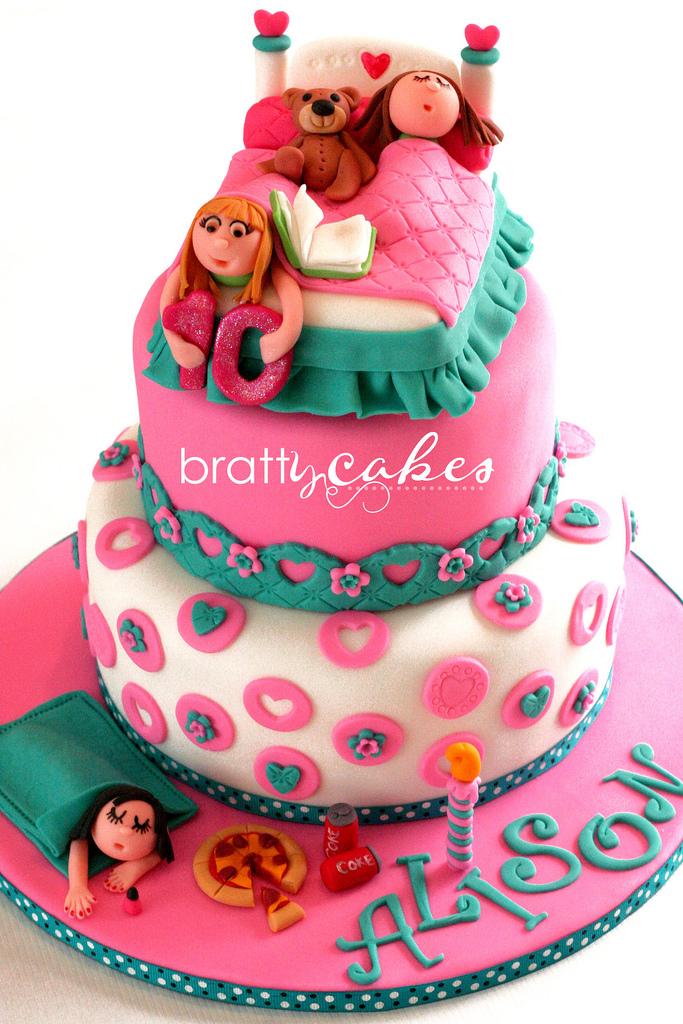 Awe Inspiring 12 Slumber Birthday Cakes Photo Slumber Party Cake Ideas Girls Funny Birthday Cards Online Inifodamsfinfo