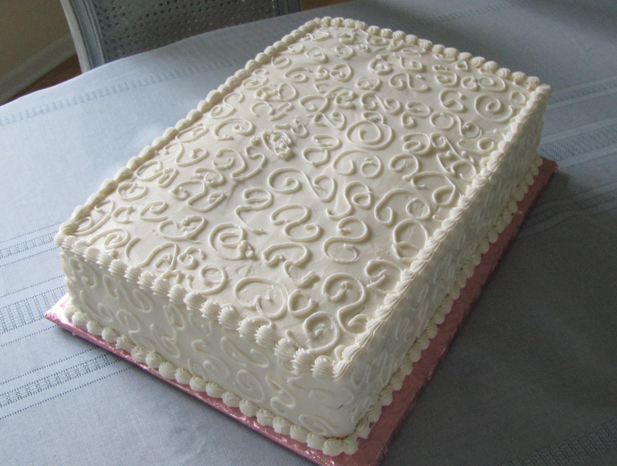 7 Plain Wedding Sheet Cakes Photo - Wedding Sheet Cake, Wedding ...