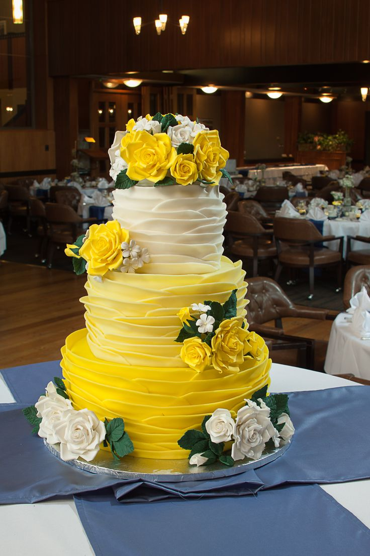 9 Wedding Cakes Yellow With Purple Flowers Photo - Purple and Yellow ...