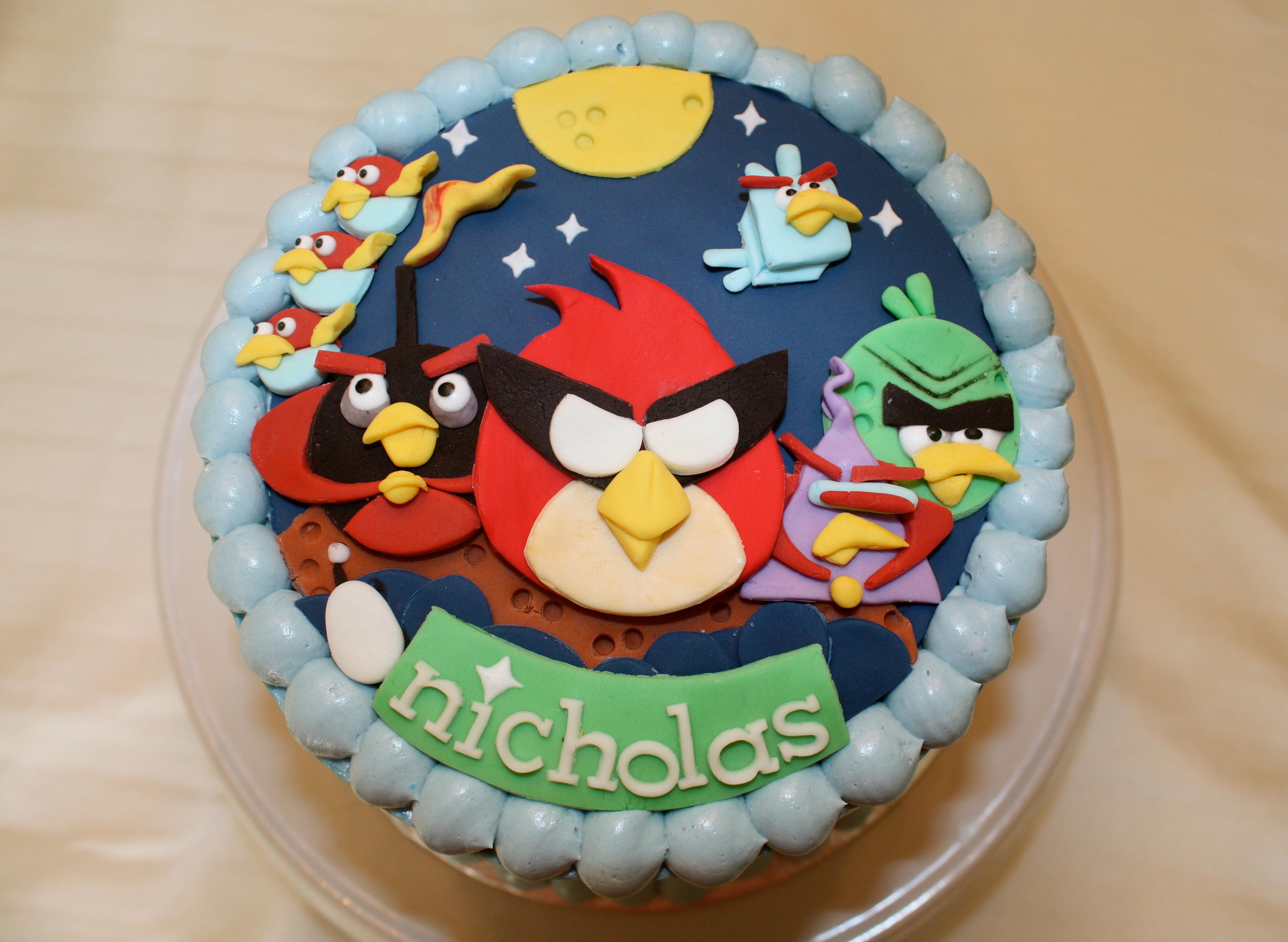 12 Angry Birds Birthday Party Cakes Photo Angry Birds Birthday