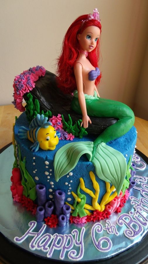 10 The Best Little Mermaid Cakes Photo Ariel Little Mermaid