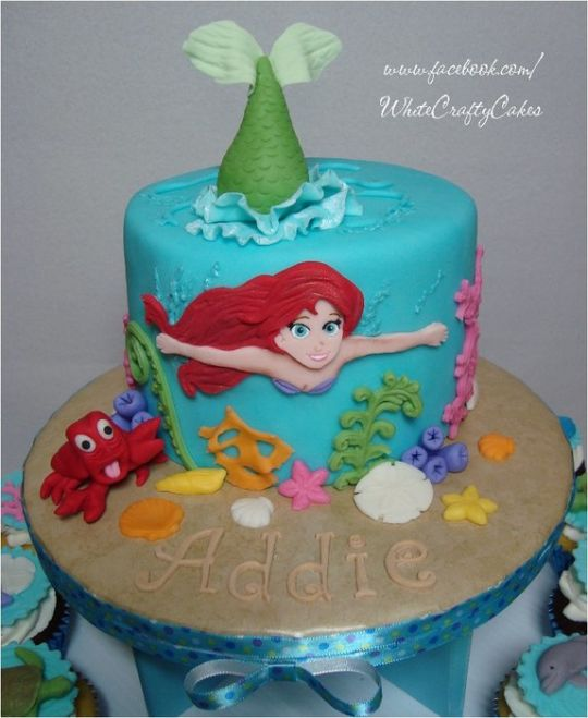10 The Best Little Mermaid Cakes Photo Ariel Little Mermaid