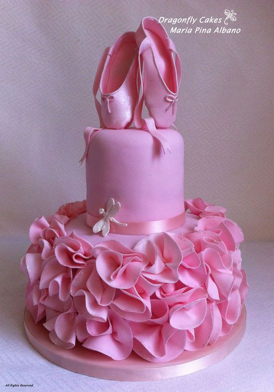 Wondrous 12 Birthday Cakes For Girls Ballet Photo Ballerina Birthday Cake Personalised Birthday Cards Paralily Jamesorg