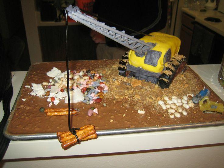 8 Crane Machine Birthday Cakes Photo Crane Birthday Cake