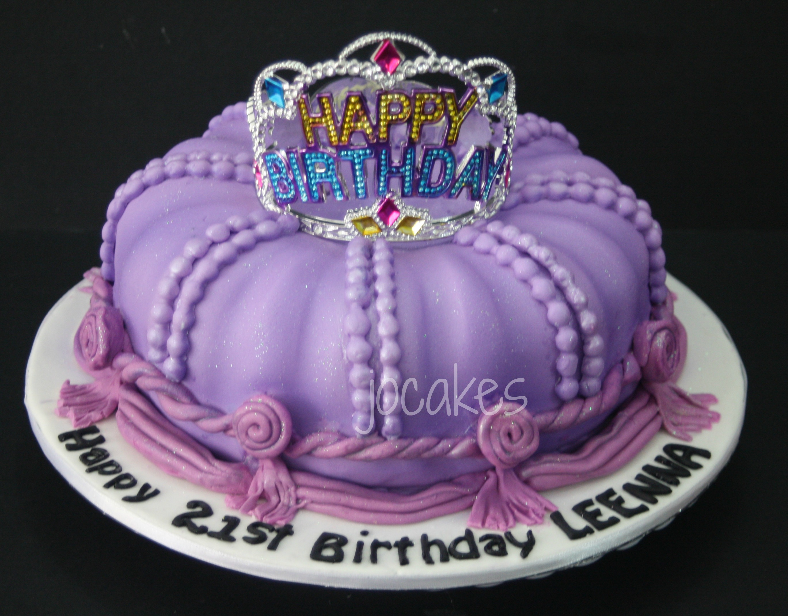 Marvelous 8 Birthday Cakes For Girls Crown Photo Crown Birthday Cake Funny Birthday Cards Online Alyptdamsfinfo