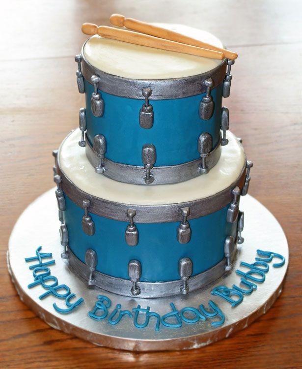 Awe Inspiring 10 Drum Theme Cakes Photo Drum Set Birthday Cake Drum Theme Funny Birthday Cards Online Bapapcheapnameinfo