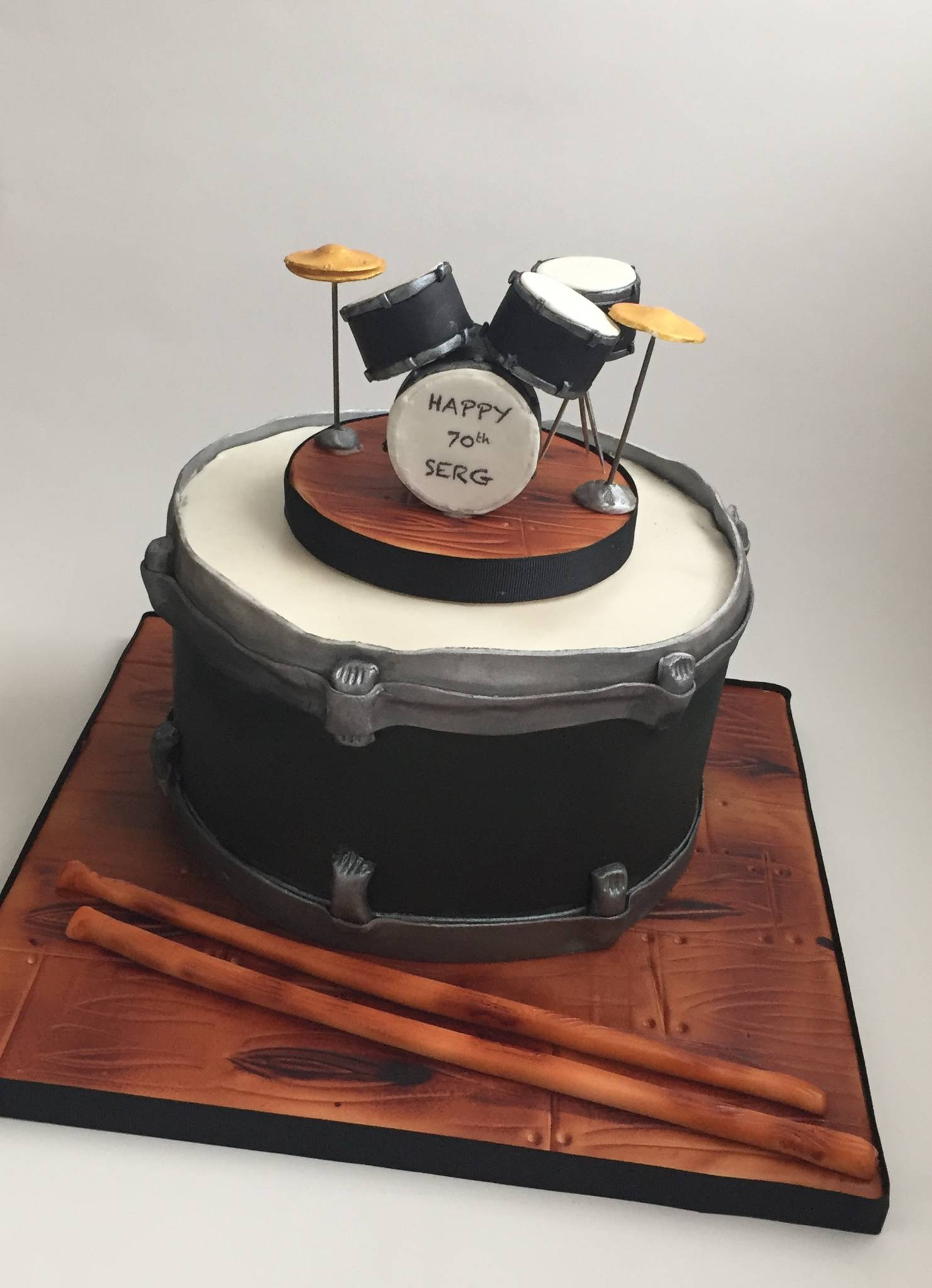 Drum Themed Birthday Cake