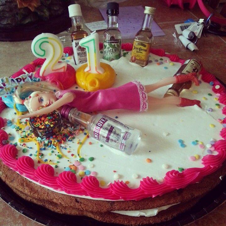 12 Funny 21 Birthday Cakes Photo Funny 21st Birthday Cake Drunk