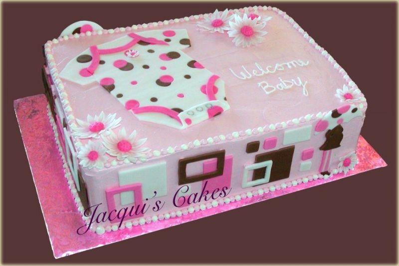 8 Sheet Cakes For Girls Photo Girl Baby Shower Cake Girl Baby