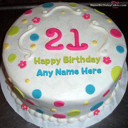 Stupendous 21St Birthday Cake For Boy With Name Personalised Birthday Cards Veneteletsinfo