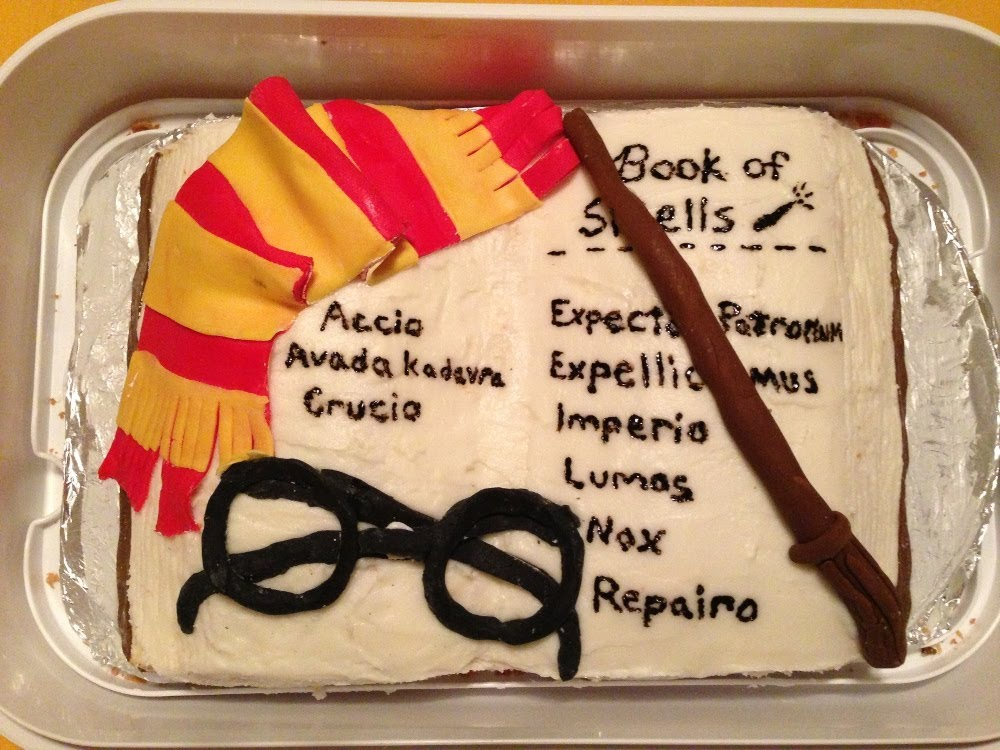 How To Make Harry Potter Book Cake