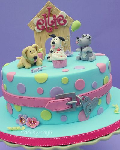 Puppy Dog Birthday Cake For Kids