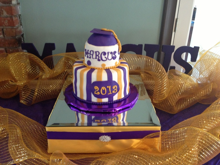 10 Purple And Gold Graduation Cupcakes Photo Purple And Gold