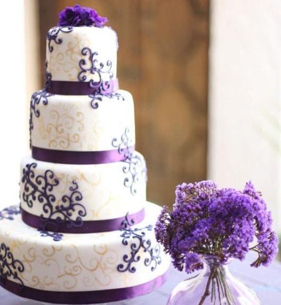 10 Purple Theme Wedding Cakes Photo Purple Theme Wedding Cake