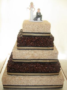 Rice Krispies Wedding Cake