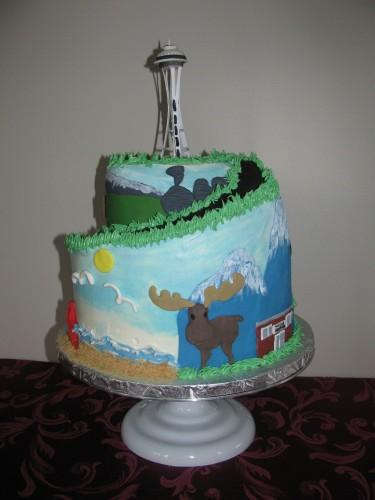 Marvelous 10 Cakes In Seattle Area Photo Happy Birthday Cake Seattle Birthday Cards Printable Trancafe Filternl