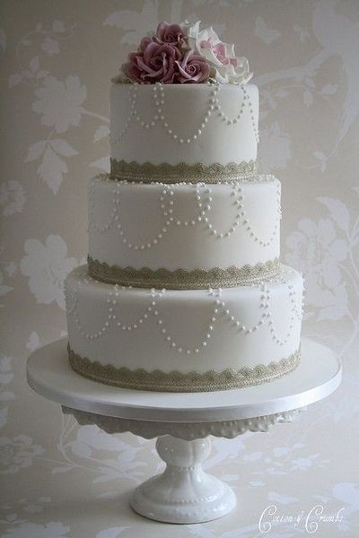 Simple Elegant Wedding Cakes Pearls