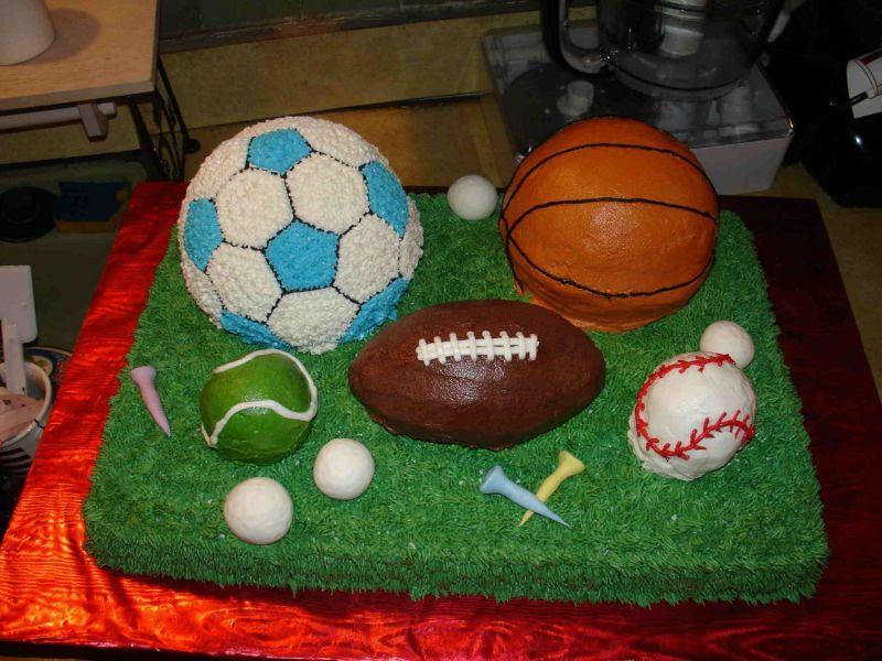 Enjoyable 12 Sports Party Cakes Photo Sports Birthday Cake Ideas Sports Funny Birthday Cards Online Bapapcheapnameinfo