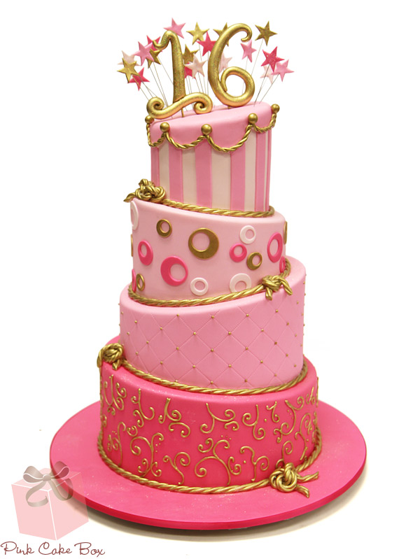 Incredible 11 Big Boss Sweet 16 Birthday Cakes Pink Cake Photo Pink And Funny Birthday Cards Online Aeocydamsfinfo