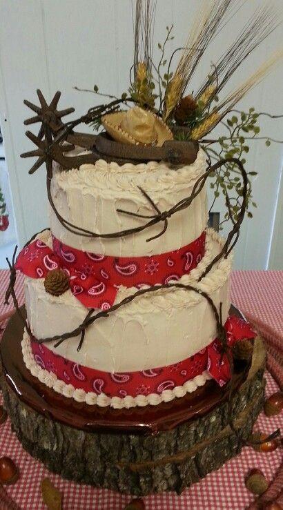 Fine 13 Cakes Western Themed Christmas Photo Western Themed Birthday Funny Birthday Cards Online Alyptdamsfinfo