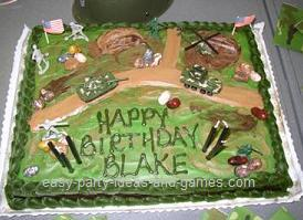 Marvelous 7 Army Themed Cakes For Adults Photo Army Themed Birthday Party Funny Birthday Cards Online Benoljebrpdamsfinfo