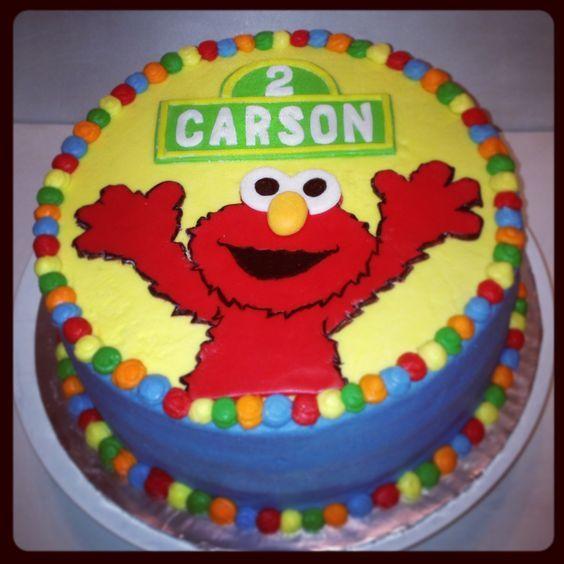 6 Elmo Sheet Cakes 1st Birthday Photo