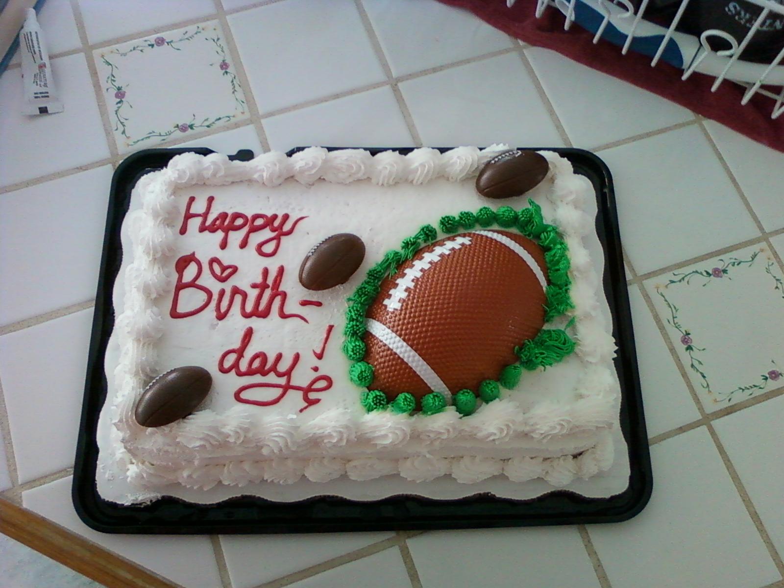 5 Football Cakes From Wal Mart Photo Football Birthday Cakes