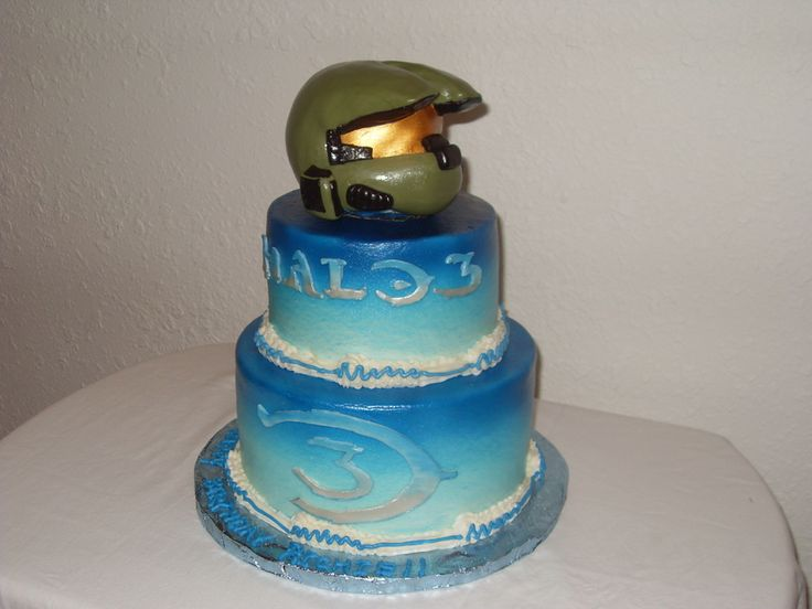 Awe Inspiring 11 Halo Wars Birthday Cakes Photo Halo Birthday Cake Ideas Halo Birthday Cards Printable Nowaargucafe Filternl
