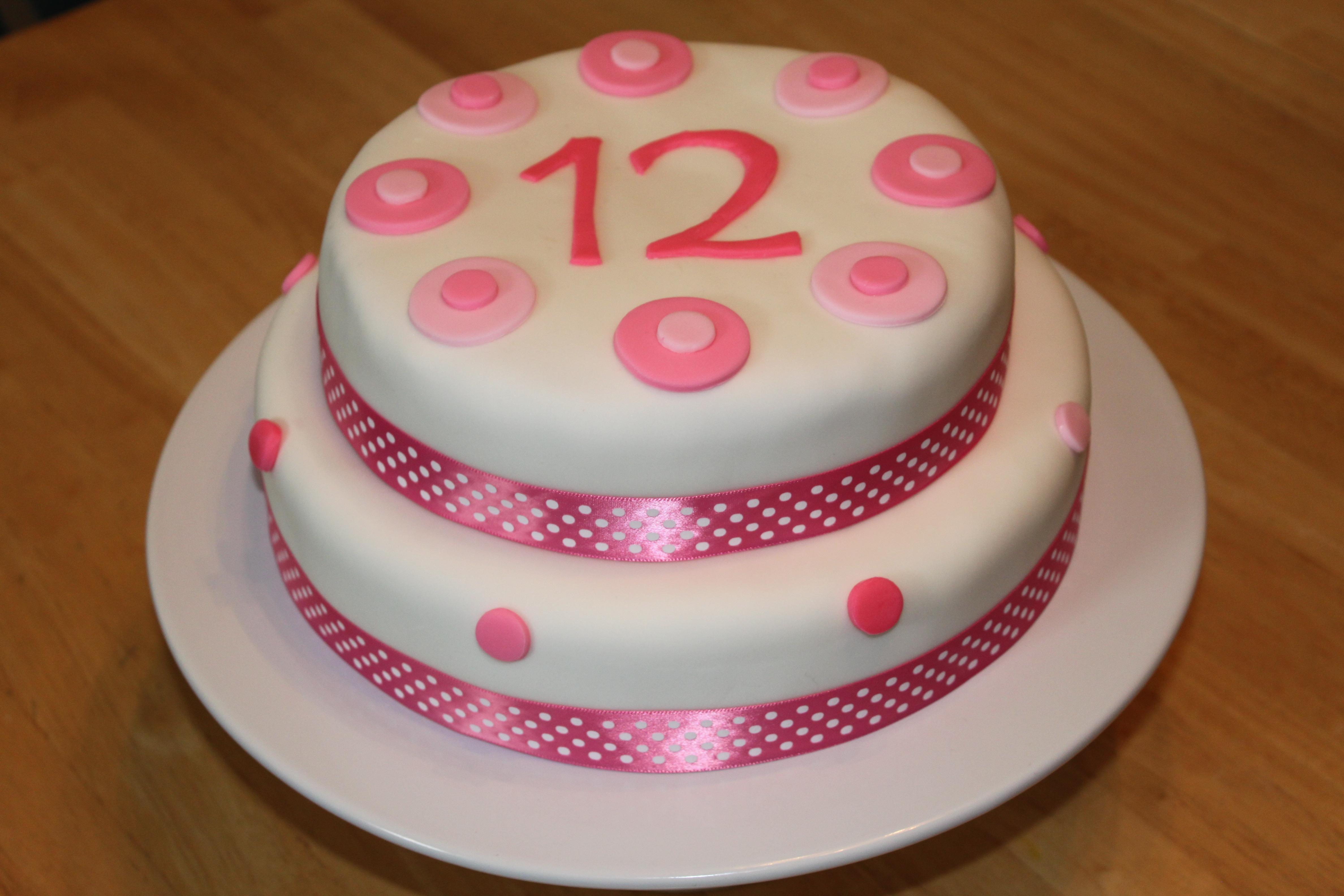 Superb 6 Happy 12 Birthday Cakes Photo Happy 12Th Birthday Girl Cake Birthday Cards Printable Trancafe Filternl