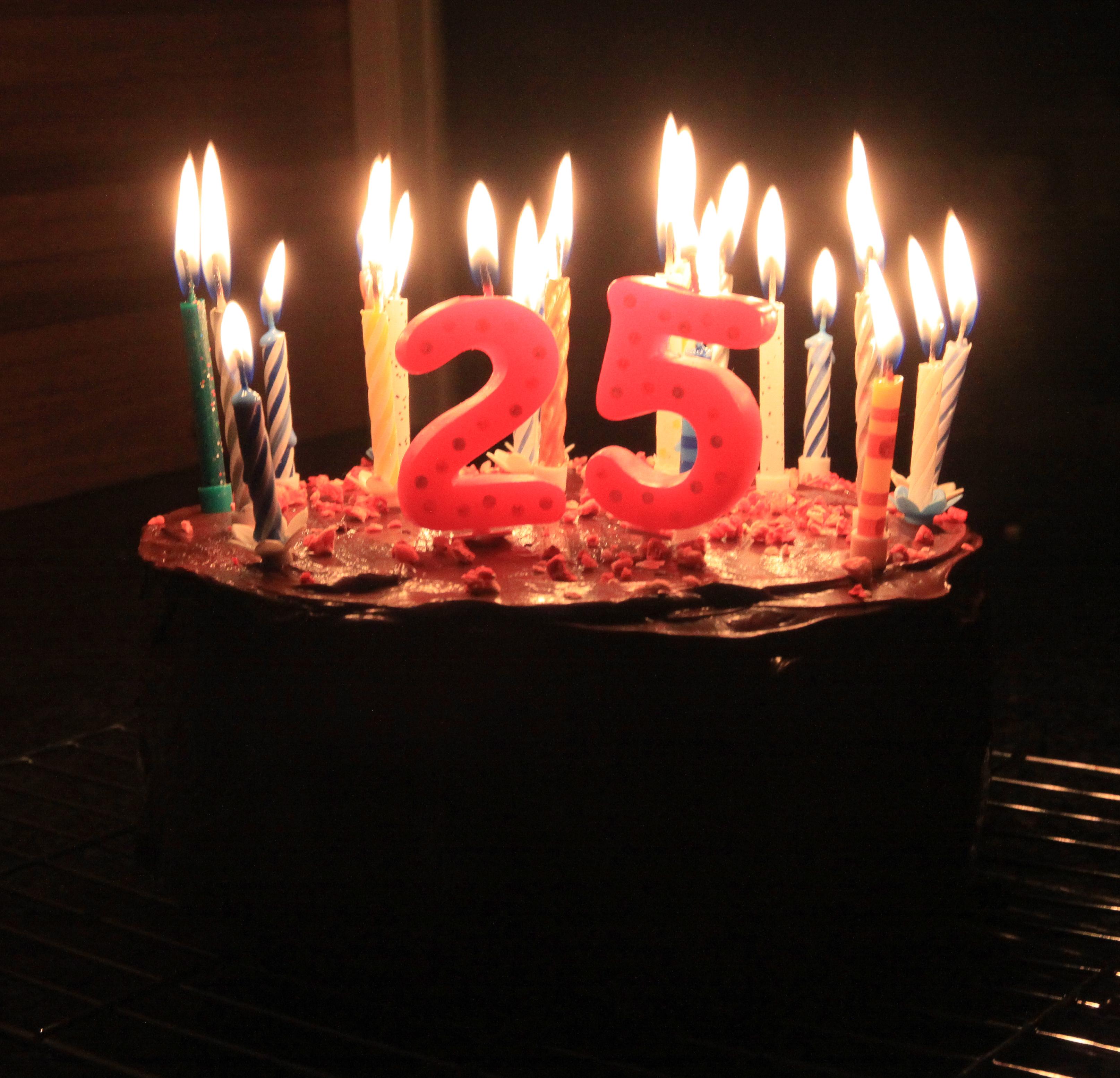 Happy 25 Birthday Cake