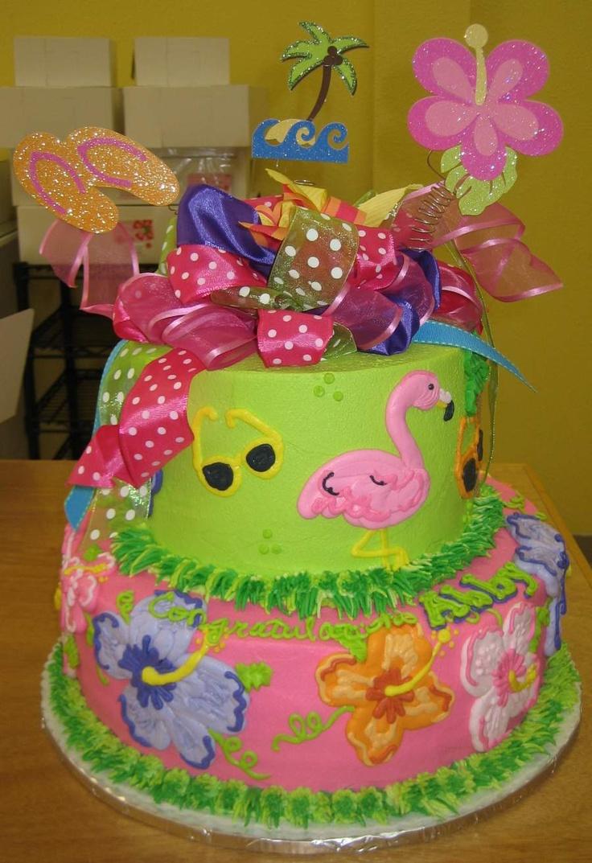 10 Girls Luau Birthday Cakes Photo