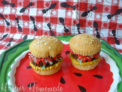 7 Photos of Day Memorial Hamburger Cupcakes