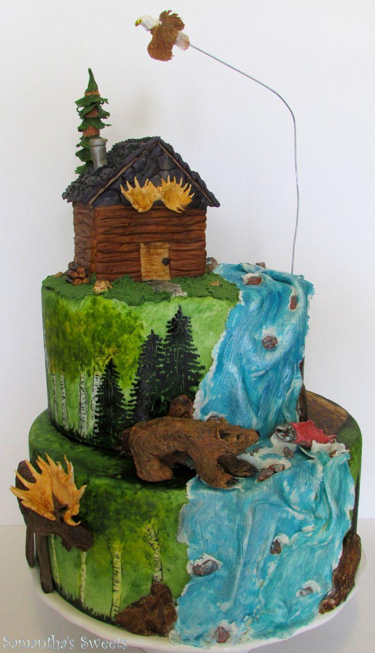 10 Amazing Fondant Cakes For Hunters Photo Hunting Birthday Cake