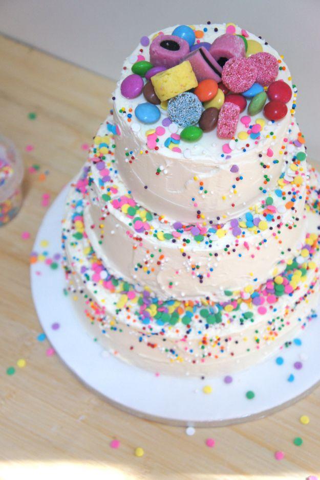 Phenomenal 7 Sprinkles Buttercream Birthday Cakes Photo Rainbow Sprinkles Funny Birthday Cards Online Benoljebrpdamsfinfo