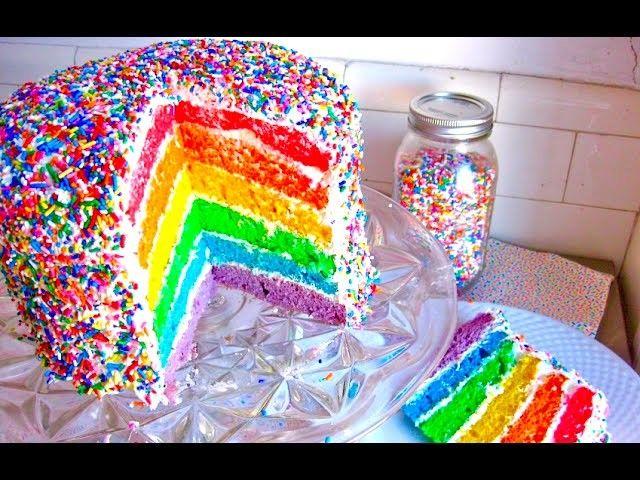 9 Rainbow Sprinkles Baby Cakes Photo Rainbow Cake With Sprinkles