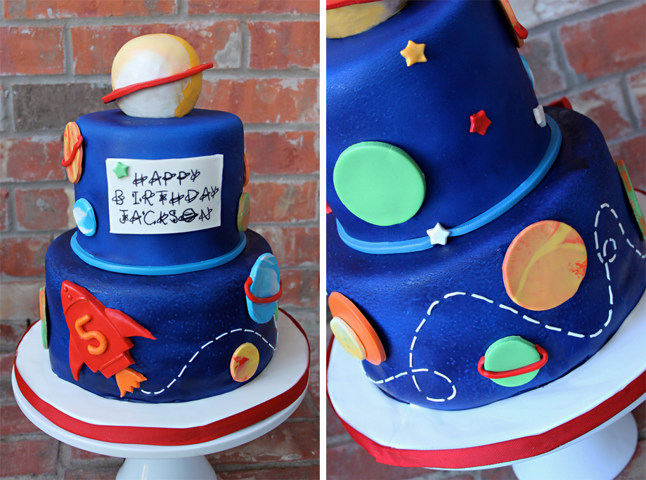 12 Outer Space Themed Cakes Photo Outer Space Birthday Cake Outer